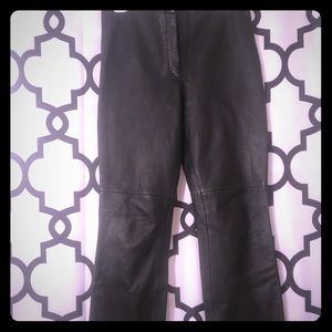 Straight Leg Sexy Leather Pants